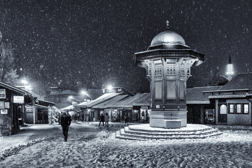 A piece of fine art art photography titled Winter In Sarajevo by Bez Dan