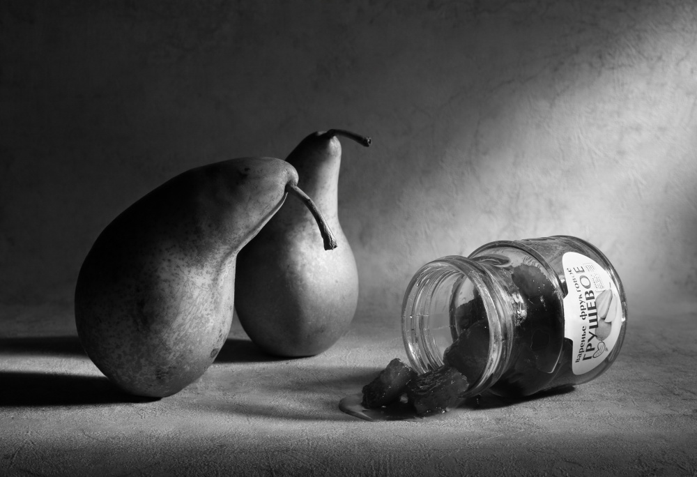A piece of fine art art photography titled Pear Jam  or Once They Were Friends by Victoria Ivanova