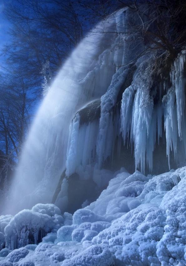 A piece of fine art art photography titled Frozen In the Moonlight by Nicolas Schumacher