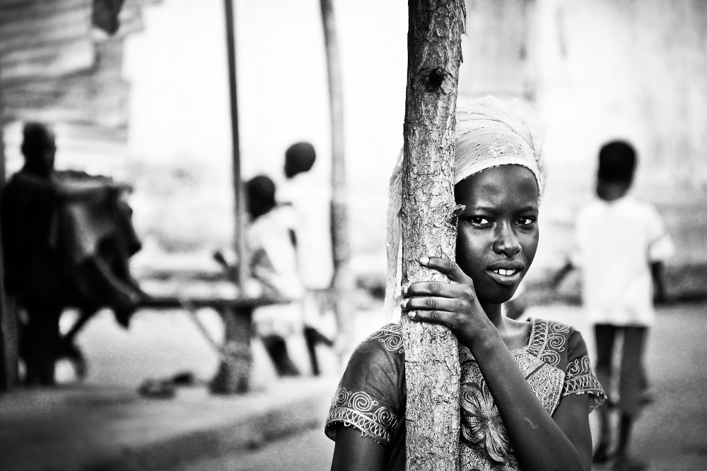 A piece of fine art art photography titled In a Village by pascal laceur