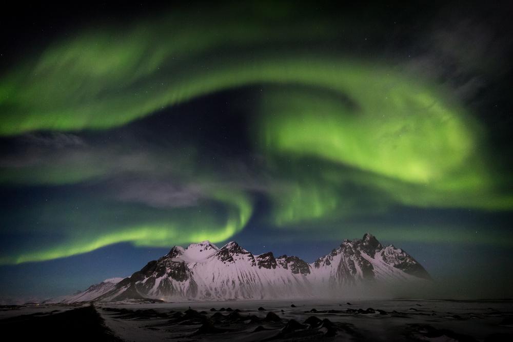 A piece of fine art art photography titled Icelandic Aurora by Adrian Popan