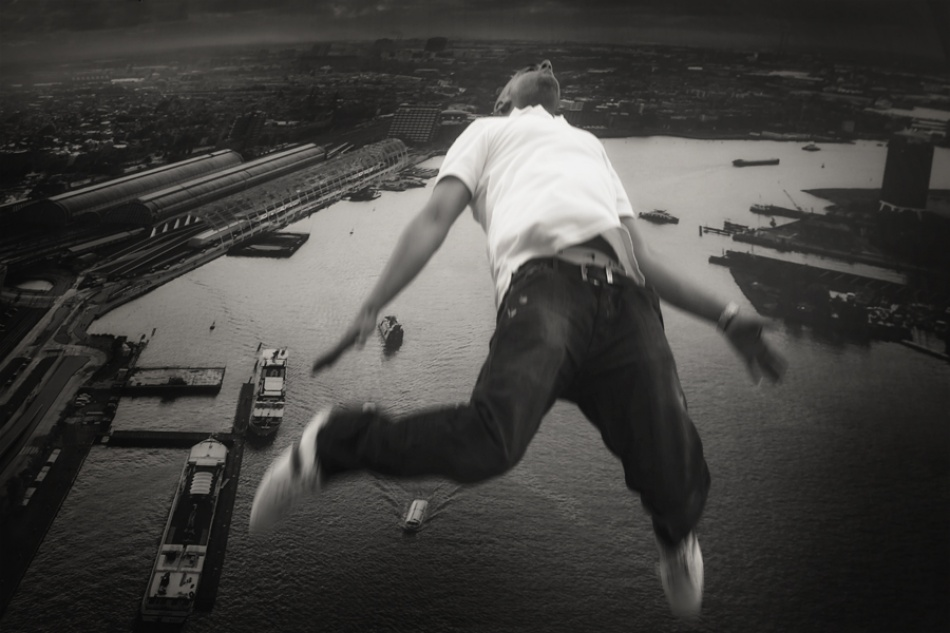 A piece of fine art art photography titled Falling by Ricky Siegers