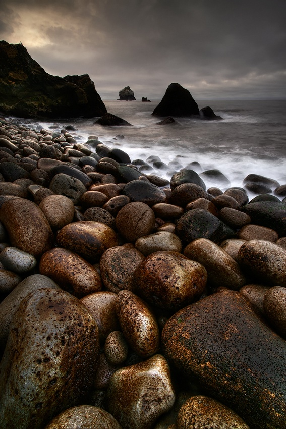 A piece of fine art art photography titled  Stones by Raymond Hoffmann