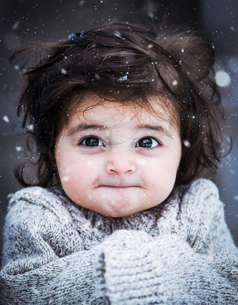 A piece of fine art art photography titled Winter Portrait by Bess Hamiti