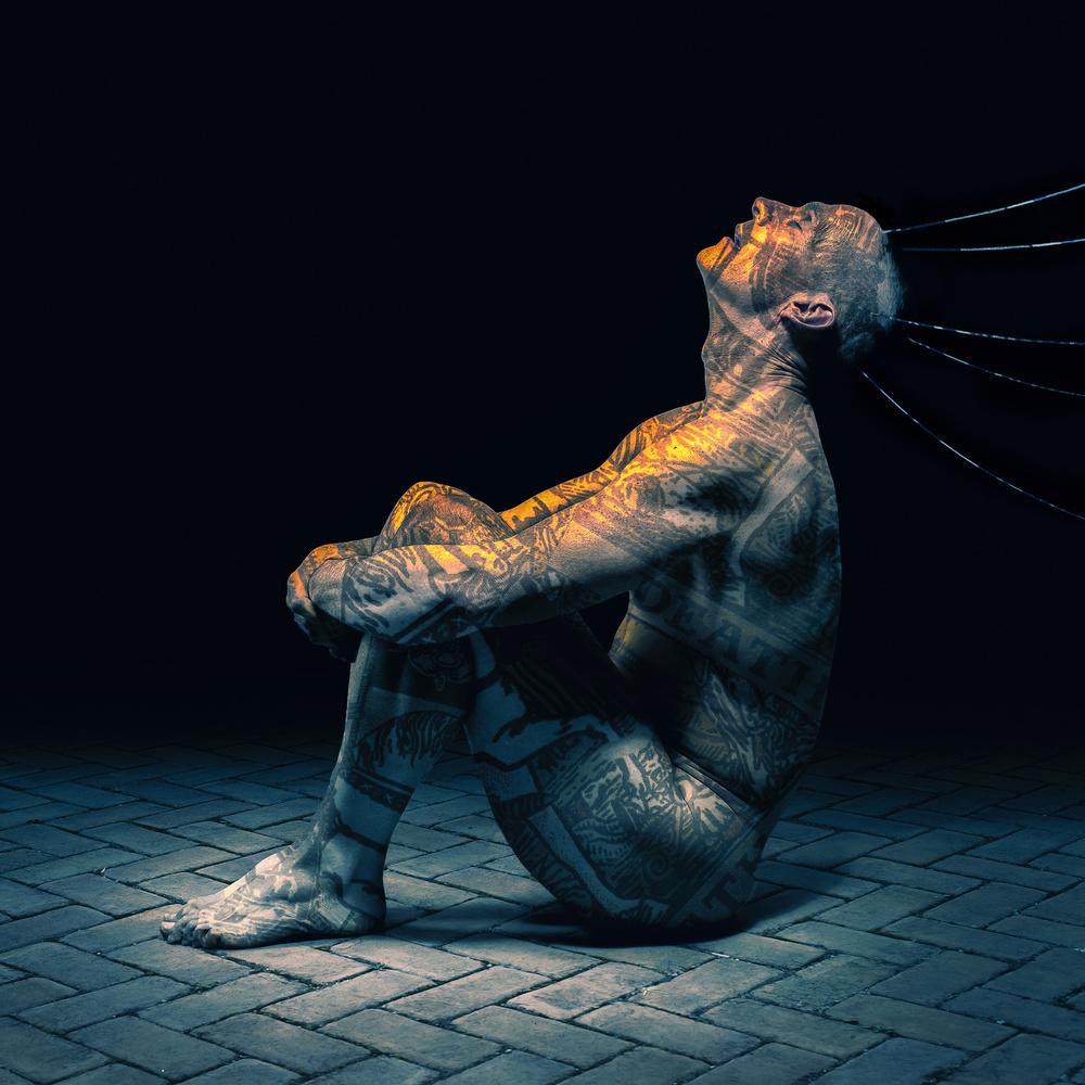 A piece of fine art art photography titled Thanatophobia by Michael Bilotta