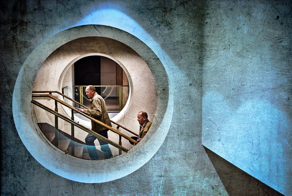 A piece of fine art art photography titled 'round In Circles by Adrian Donoghue