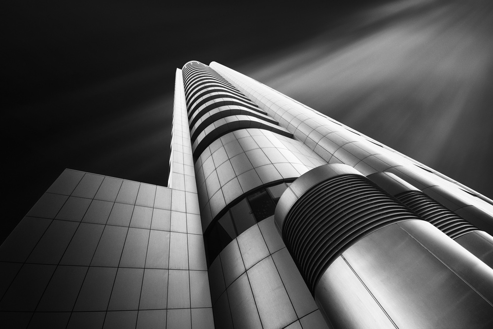 A piece of fine art art photography titled Martyr Tower by Ahmed Thabet
