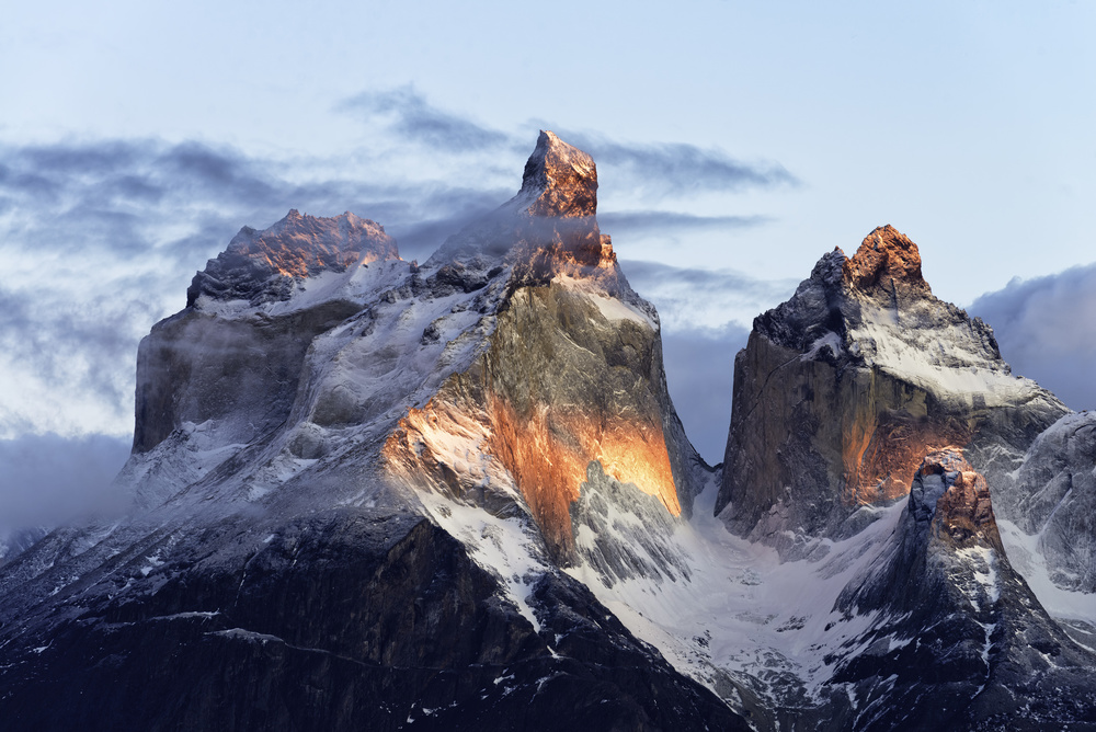 A piece of fine art art photography titled Patagonia, That Magic Light by Carlos Guevara Vivanco