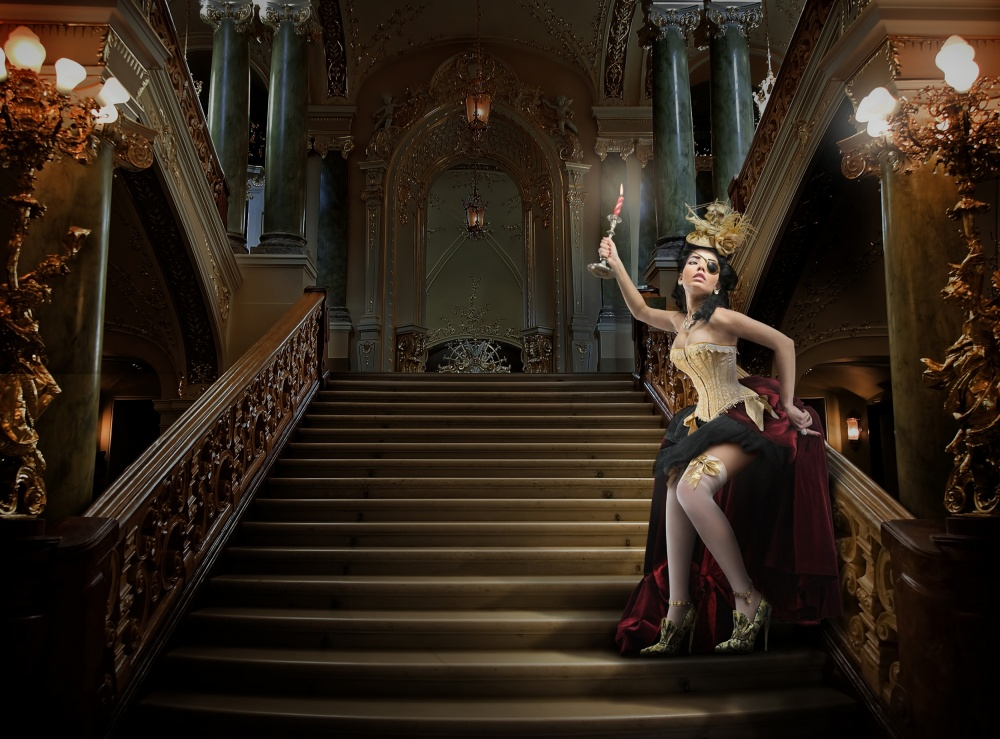A piece of fine art art photography titled Juliana at the Opera by DDiArte
