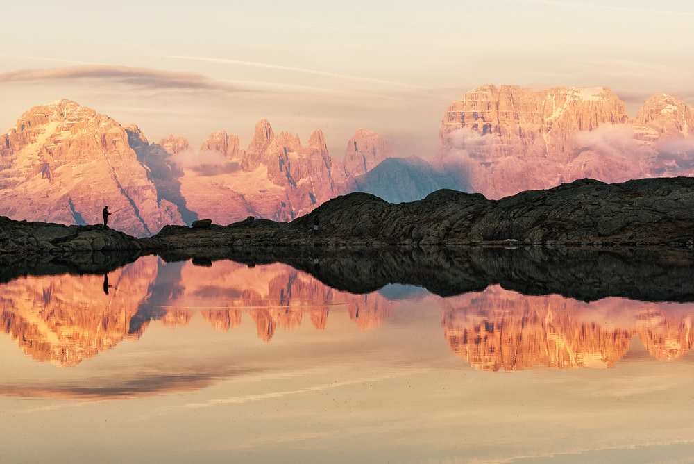 A piece of fine art art photography titled Lago Nero (TN) by Aglioni Simone