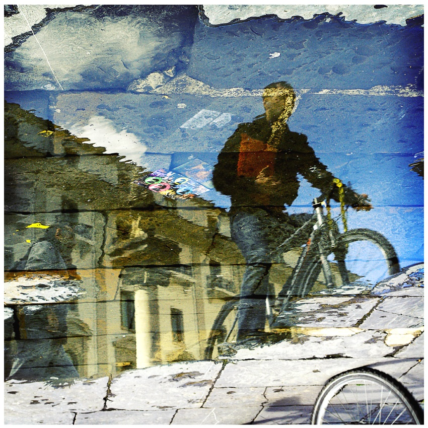 A piece of fine art art photography titled Reflected Bike by mauro moschitti
