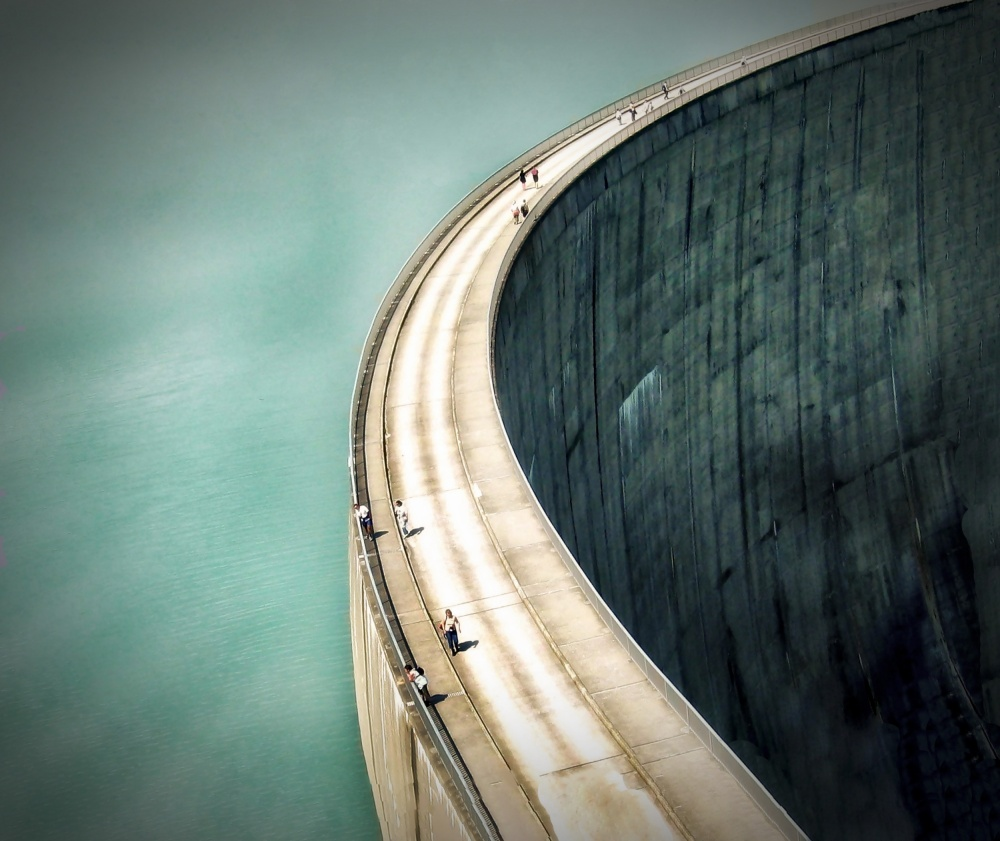 A piece of fine art art photography titled The Dam  by Anna Cseresnjes