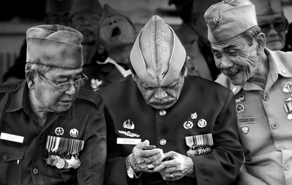 A piece of fine art art photography titled Peeking a Message by Dian Agung N