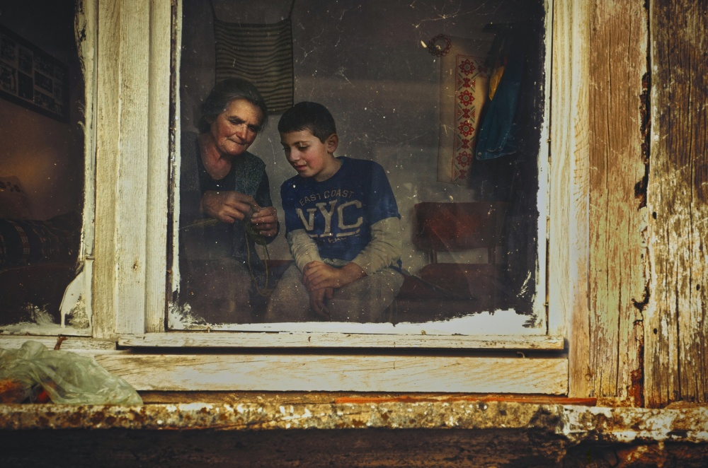 A piece of fine art art photography titled The Lessons On Grandma by Desislava Ignatova