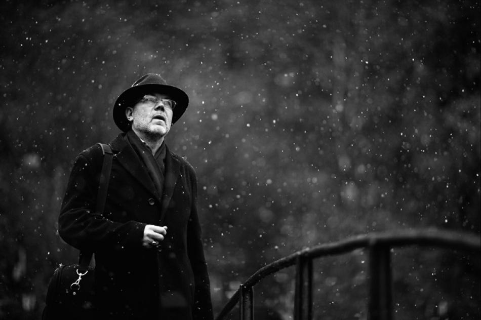 A piece of fine art art photography titled Listening to Snow by Suren Manvelyan