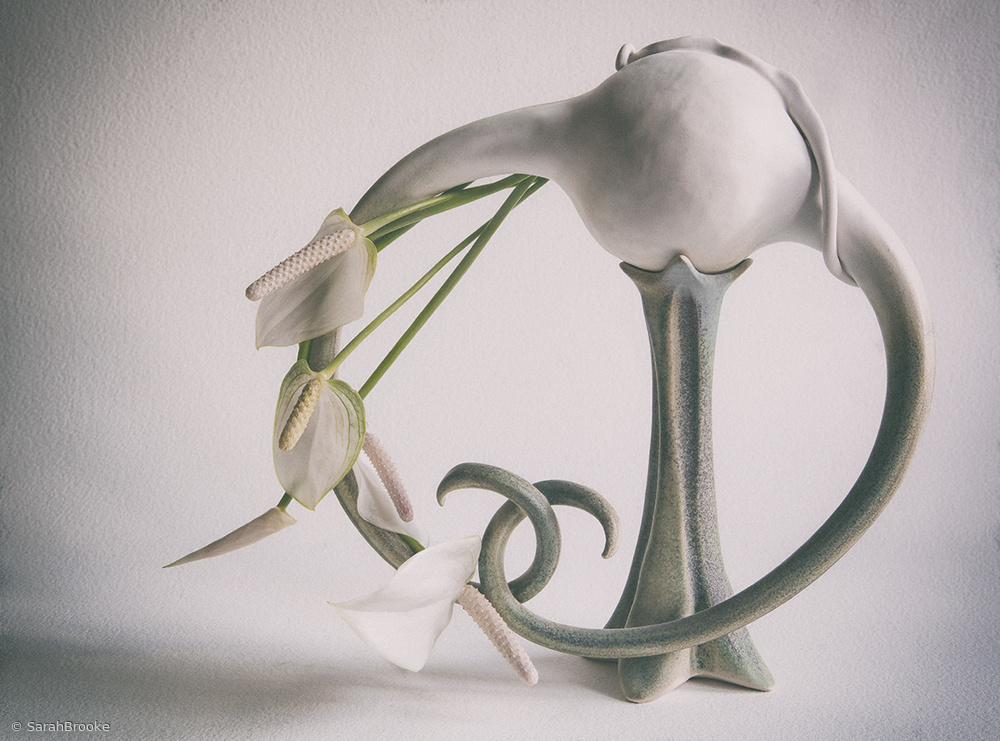 Still life with Lilies & ceramic