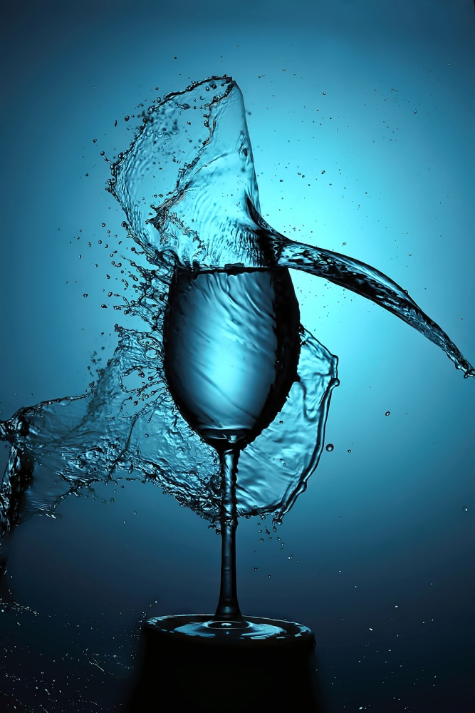 A piece of fine art art photography titled Blue Splash by Konstantinos Tzilvelis