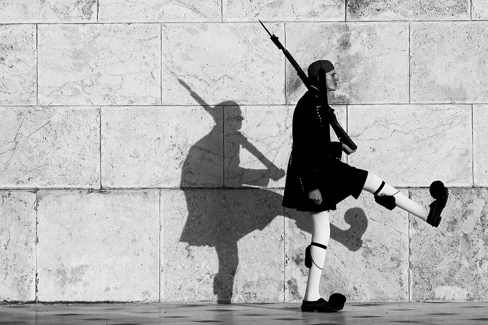 A piece of fine art art photography titled Tired Shadow by iraklis