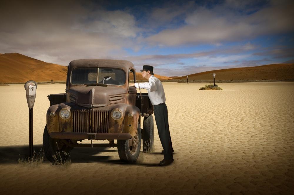 A piece of fine art art photography titled License Please!! by Christine von Diepenbroek