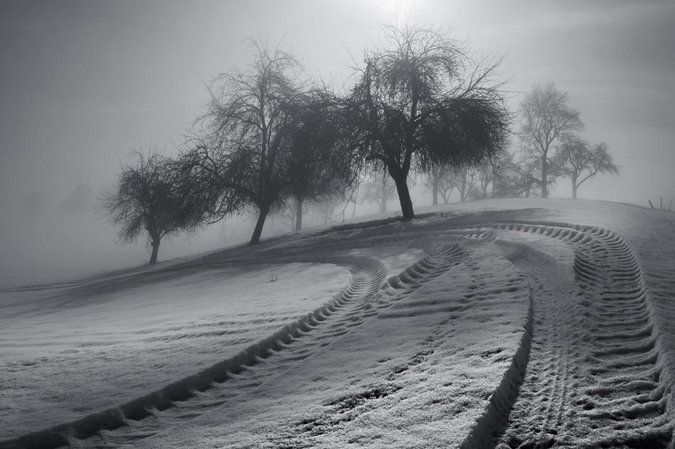 A piece of fine art art photography titled Fahrspur by Nicolas Schumacher