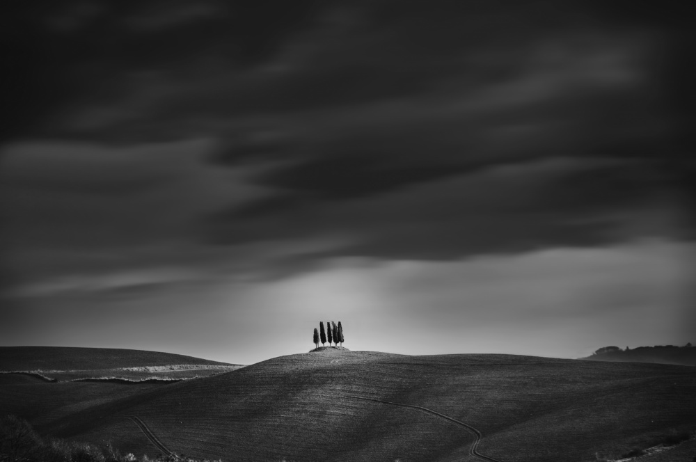 A piece of fine art art photography titled Under the Tuscan Clouds by Daniel Schwabe