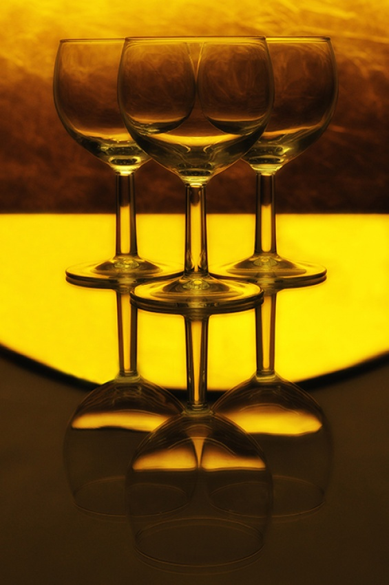A piece of fine art art photography titled Golden Goblets by kirk pullen