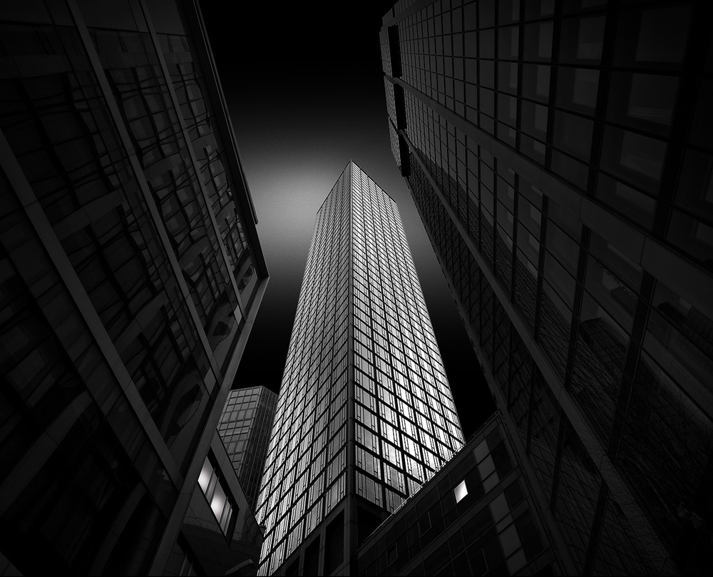 A piece of fine art art photography titled Frankfurt Bank District by Wolfgang Mothes