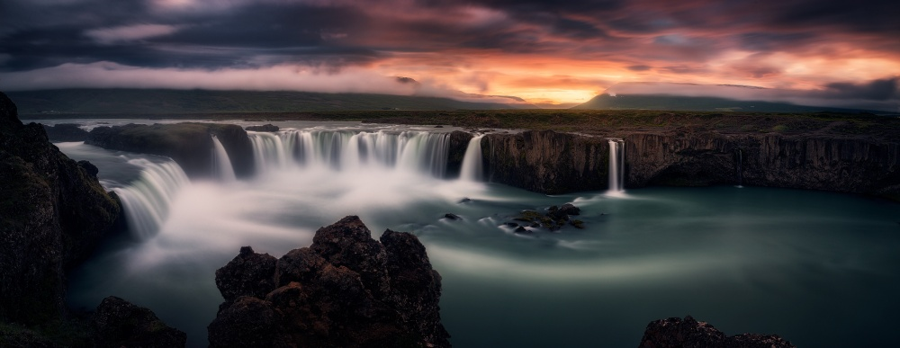 A piece of fine art art photography titled Fire and Water by Stefan Mitterwallner