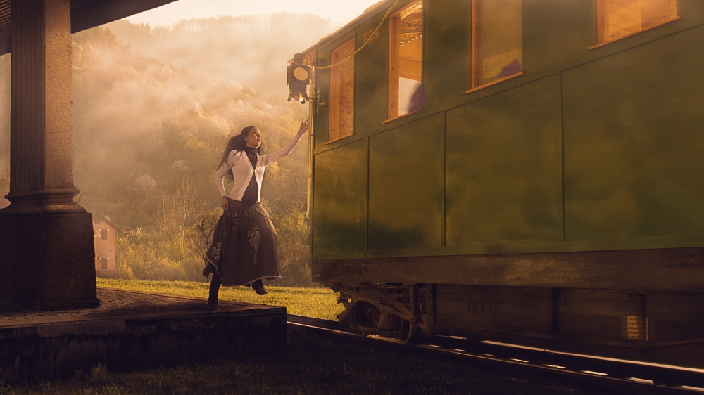 """Catching the train"""