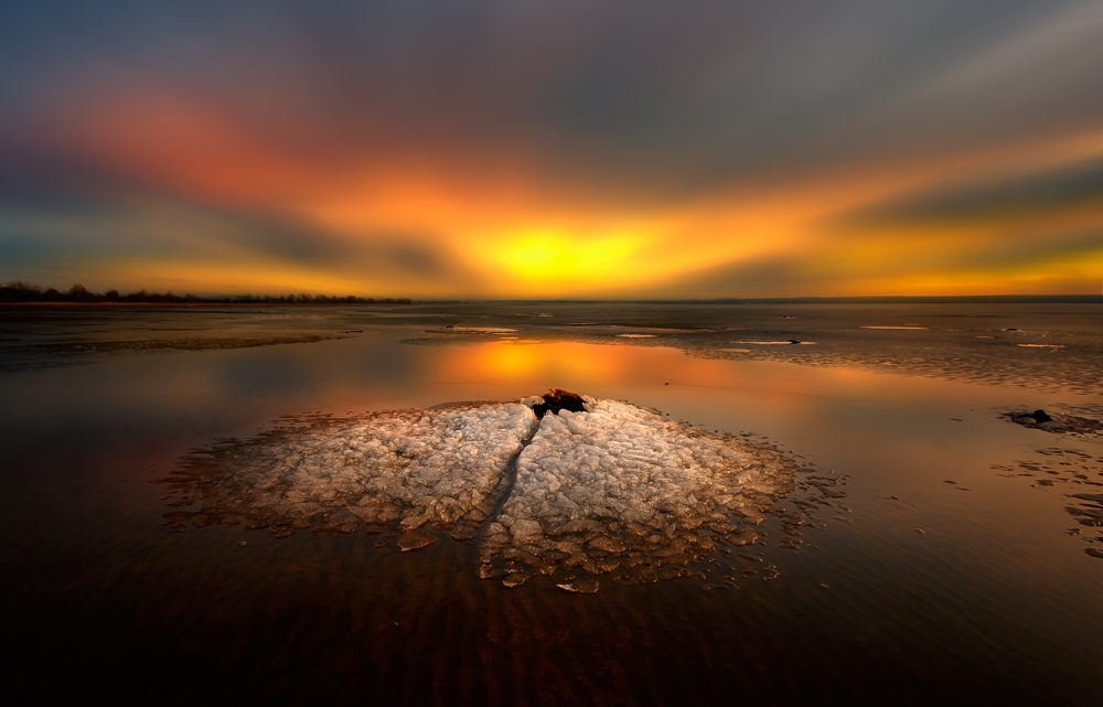 A piece of fine art art photography titled By Sunset by Piotr Krol (Bax)