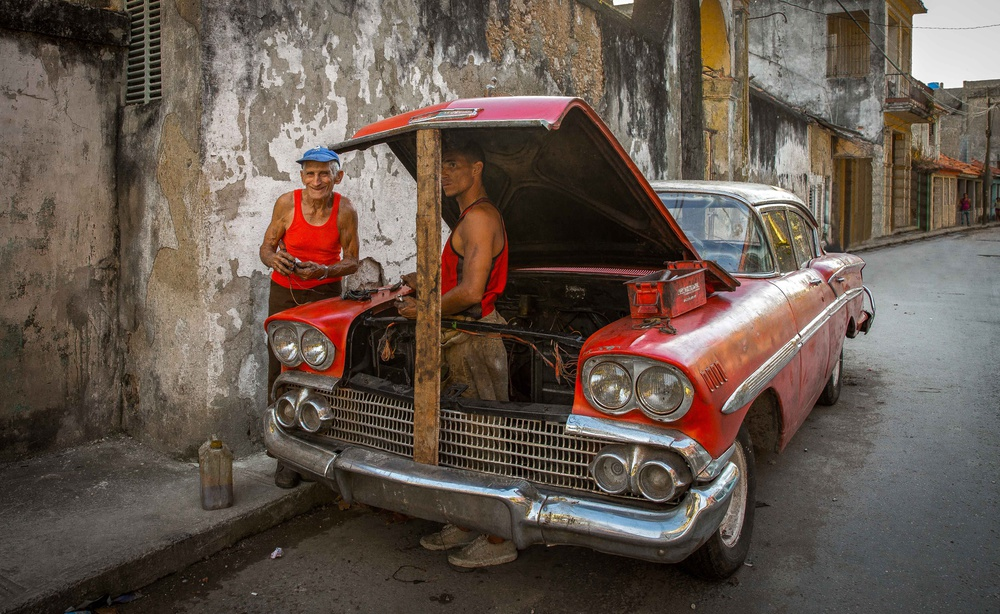 A piece of fine art art photography titled Car Repair by Inge Schuster