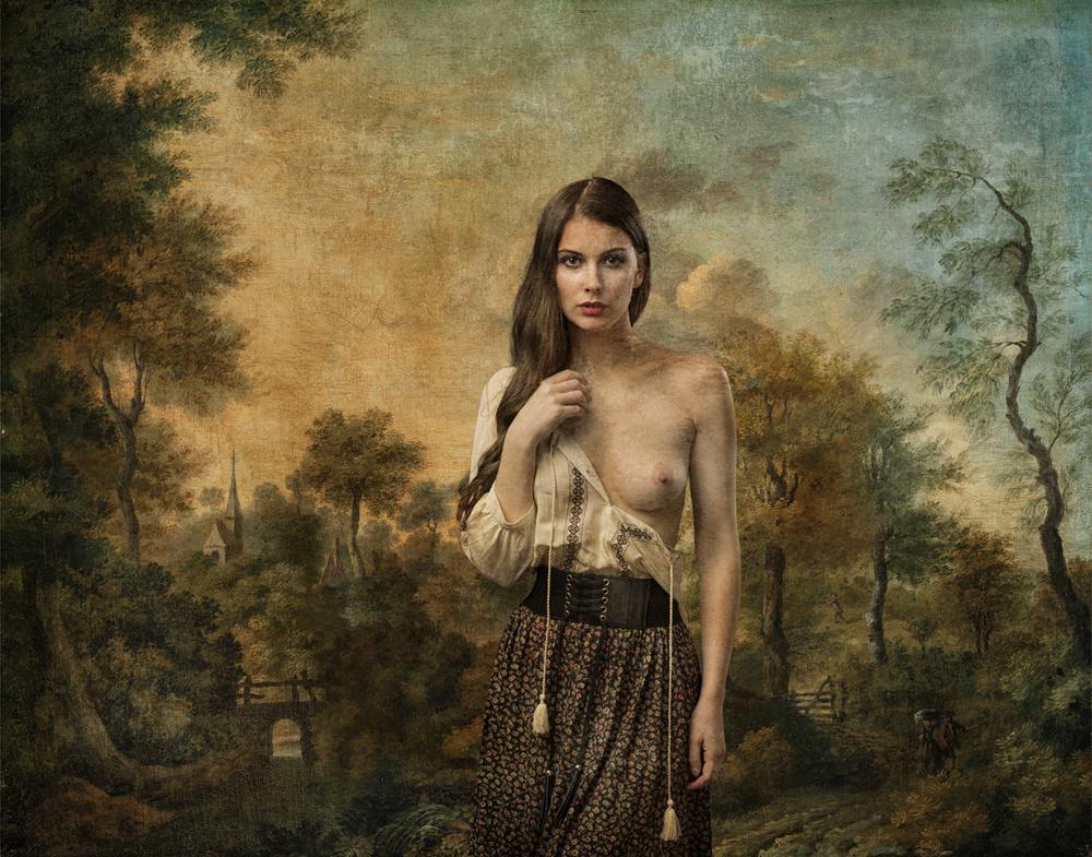 A piece of fine art art photography titled Muirina Fae by Tom Gore