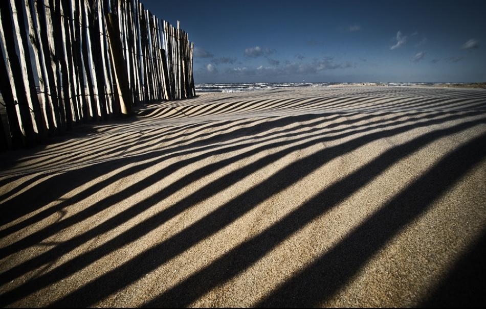 A piece of fine art art photography titled Barcode Beach by Reggy