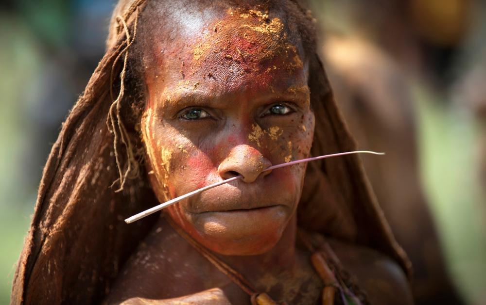 A piece of fine art art photography titled Waramaka Woman II by Norbert Becke