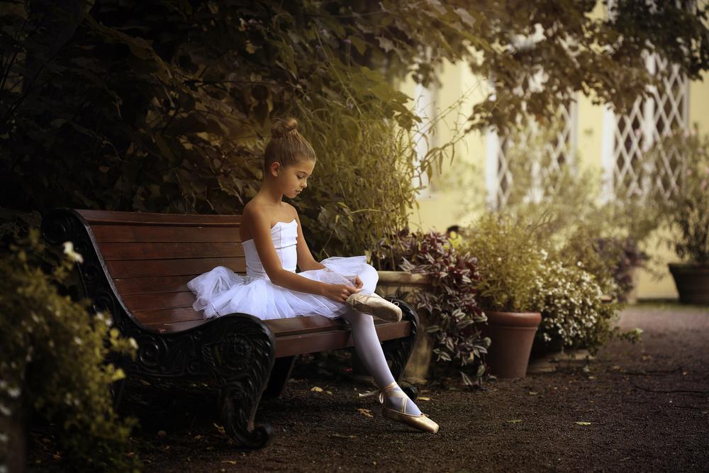 A piece of fine art art photography titled The Little Dancer by Victoria Ivanova