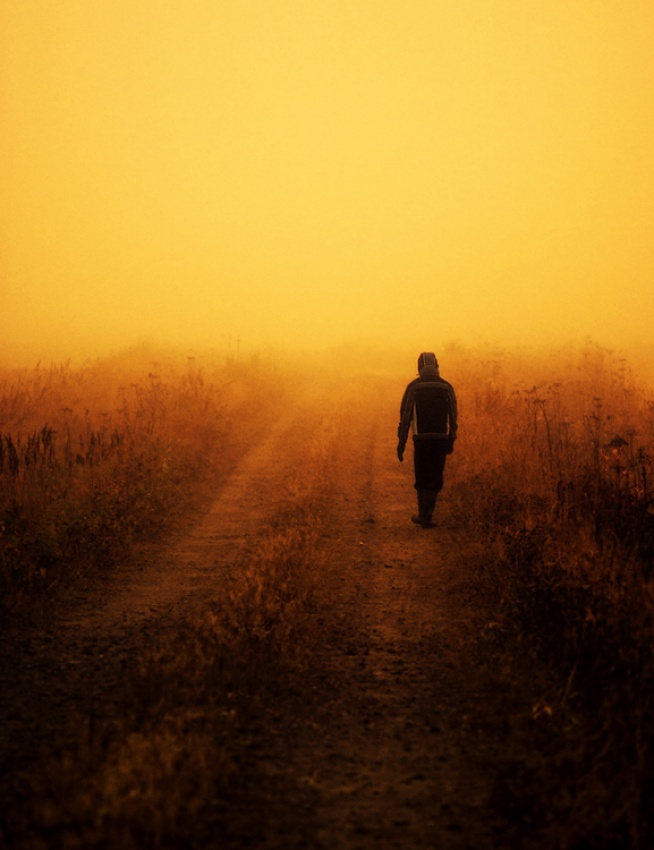 A piece of fine art art photography titled Walking to the Unknown by Joni Niemelä
