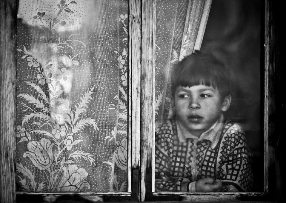 A piece of fine art art photography titled Broken Glass by Sergiu Cioban