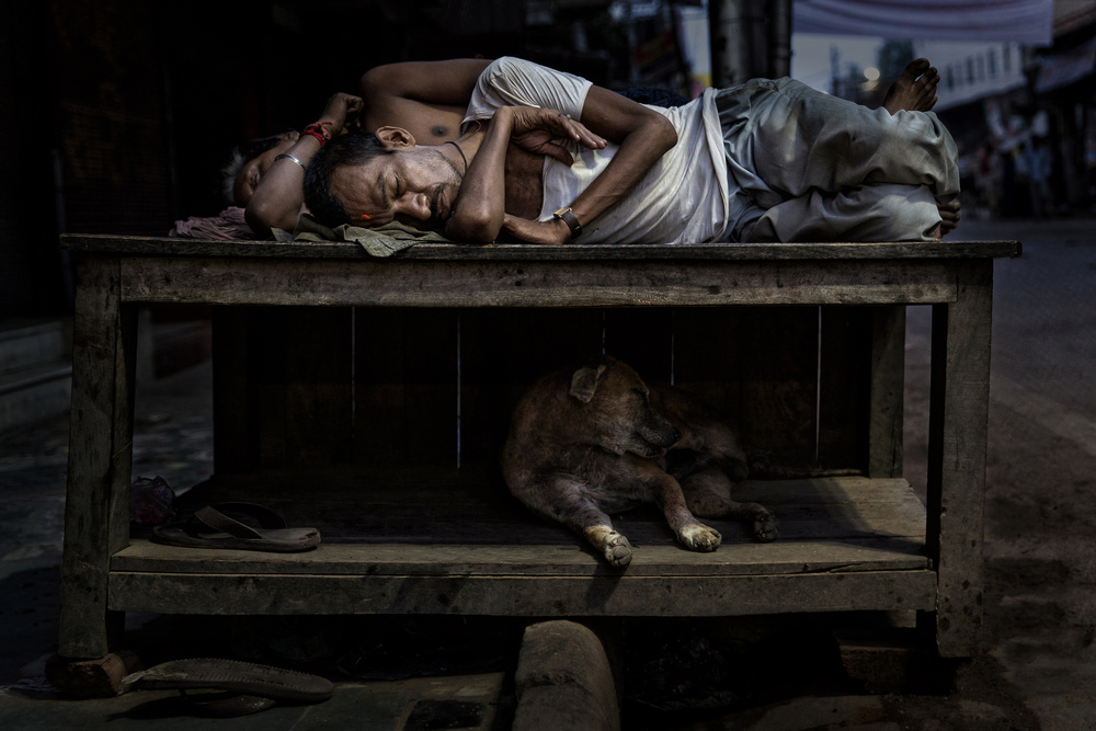 A piece of fine art art photography titled The Sleeping Friends by Fadhel Almutaghawi