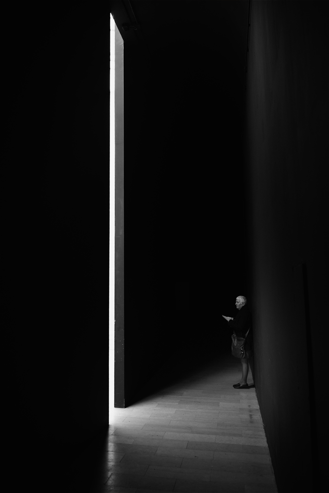 A piece of fine art art photography titled Black Minimal by Enrico Facchetti
