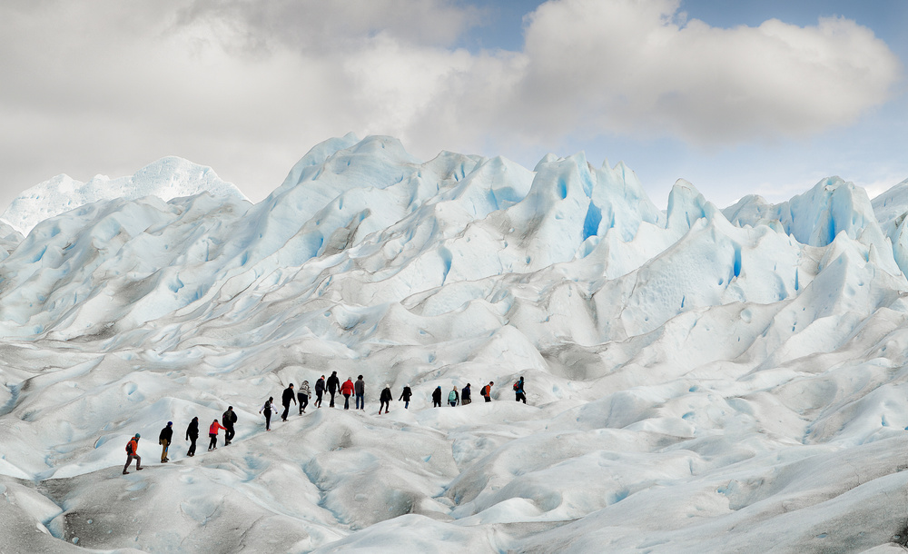 Hiking on Perito Moreno