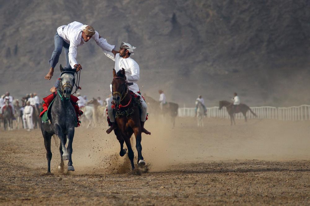 A piece of fine art art photography titled Flying Hero by Haitham AL Farsi
