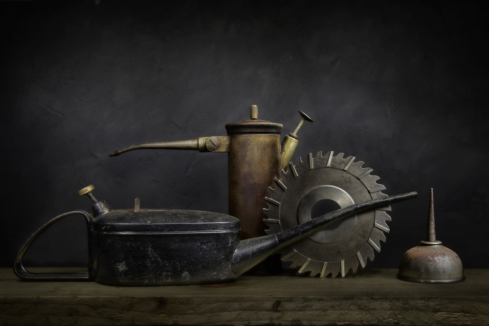 A piece of fine art art photography titled The Cutter and the Cans by Ed Phillips