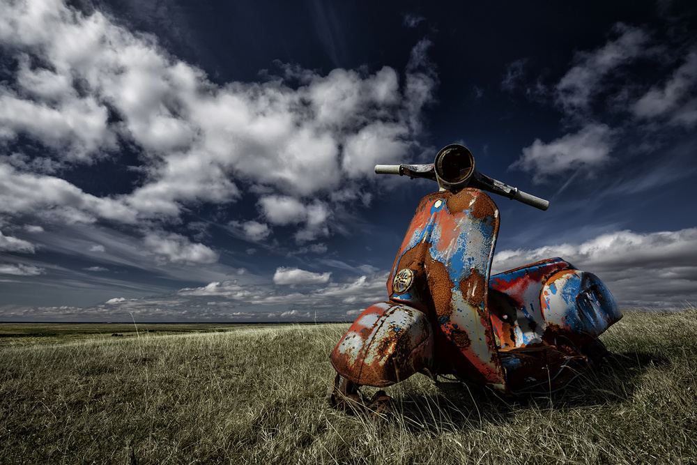 View this piece of fine art photography titled Old Vespa by Hans Repelnig