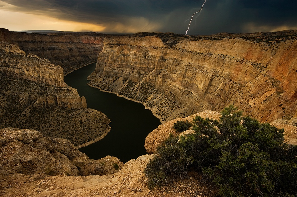 A piece of fine art art photography titled Canyon Storm by Doug Roane