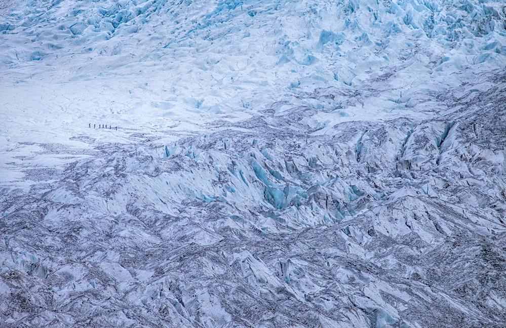 A piece of fine art art photography titled Glacier Walk by Peter Svoboda, MQEP