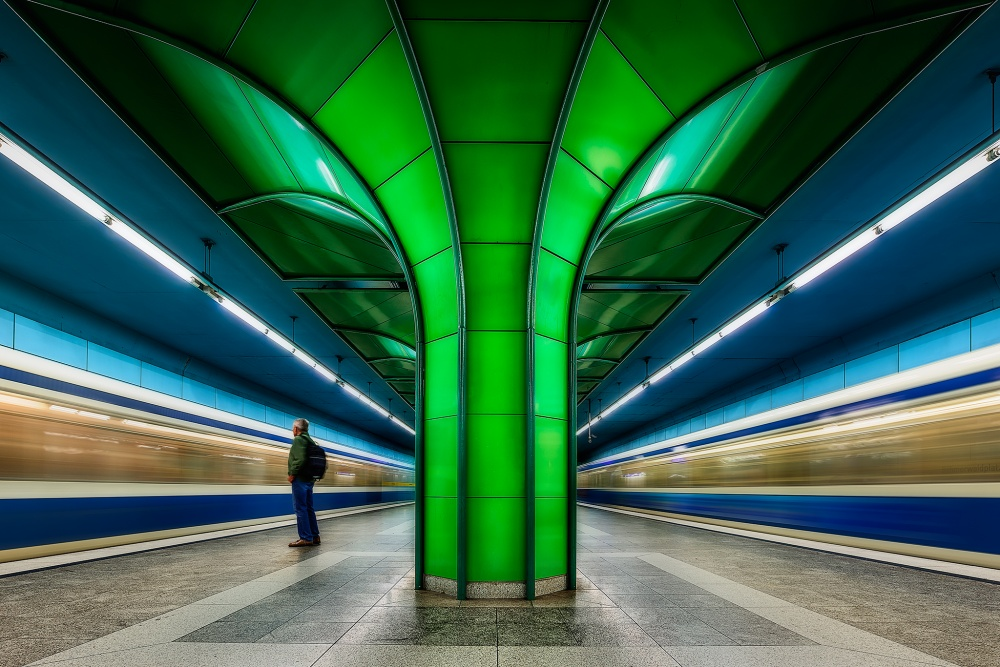 A piece of fine art art photography titled Subway Forest by Javier de la Torre