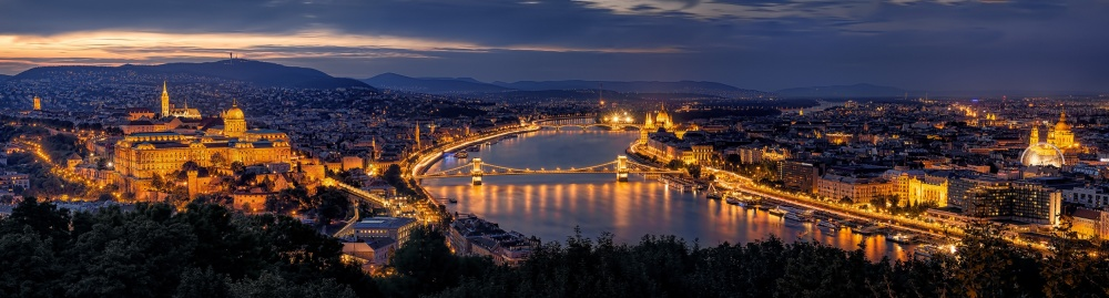 A piece of fine art art photography titled Panorama of Budapest by Thomas D Mørkeberg