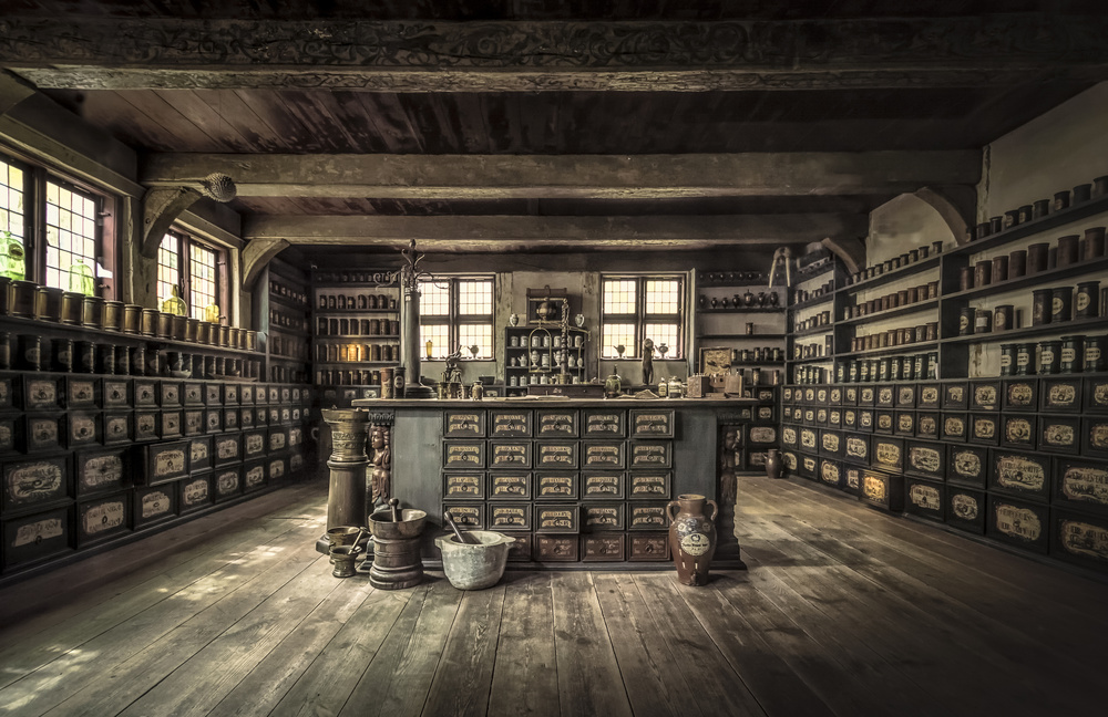 A piece of fine art art photography titled The Pharmacy by Ole Moberg Steffensen