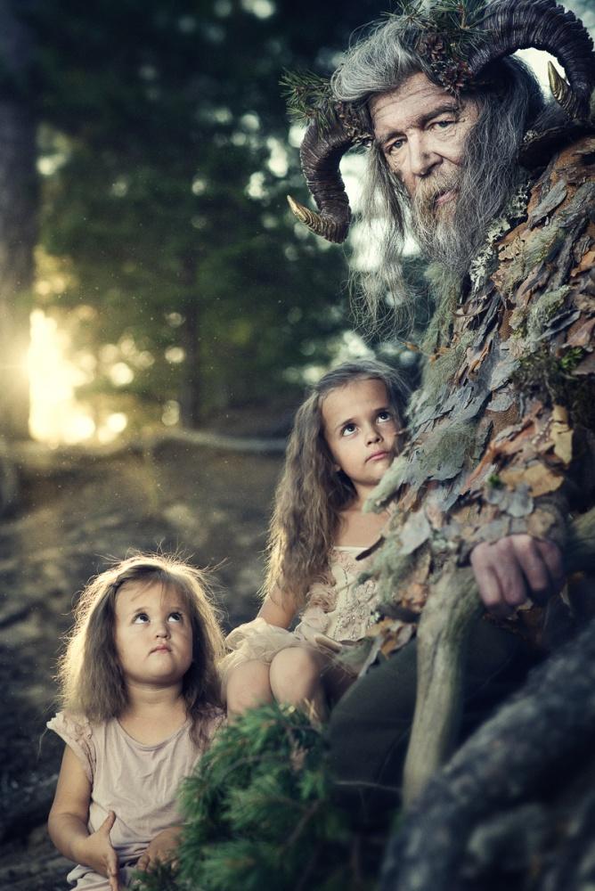 A piece of fine art art photography titled Faun Stories by Jukka Alasaari