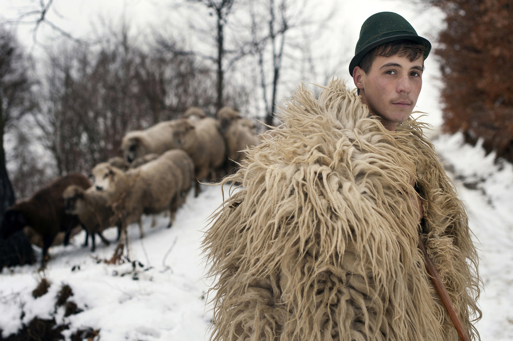 A piece of fine art art photography titled  the Young Shepherd by Vlad Dumitrescu